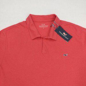 Vineyard Vines Men's Linen Cotton Polo T-shirt L